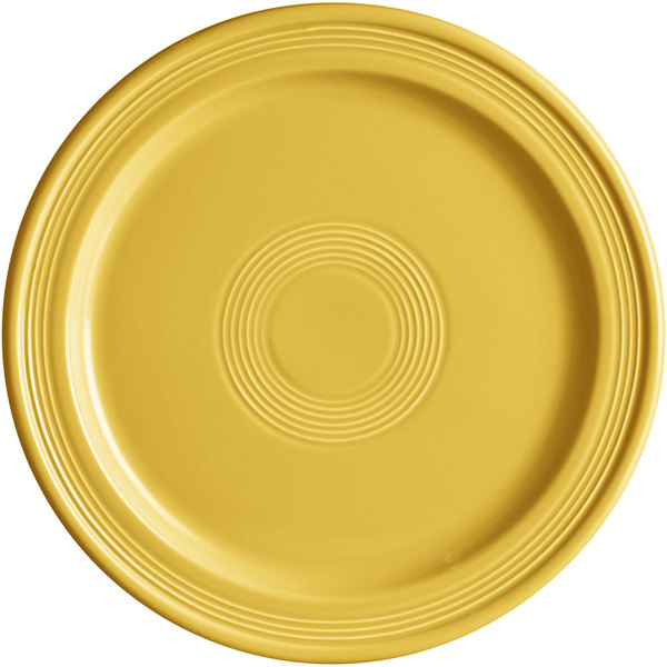 "Acopa Capri 10"" Citrus Yellow China Plate - 12/Case Main Image 1"