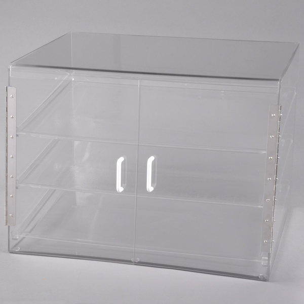 """Cal-Mil 1202-S Classic Three Tier Pastry Display Case with Front Door- 27"""" x 20"""" x 20"""""""