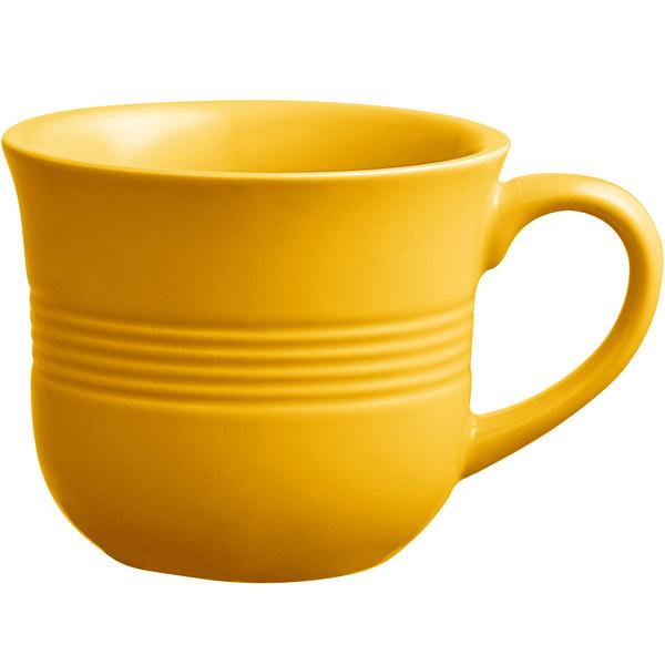 Acopa Capri 8 oz. Mango Orange China Cup - 36/Case Main Image 1