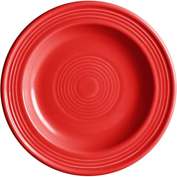 "Acopa Capri 6 1/8"" Passion Fruit Red China Plate - 24/Case Main Image 1"