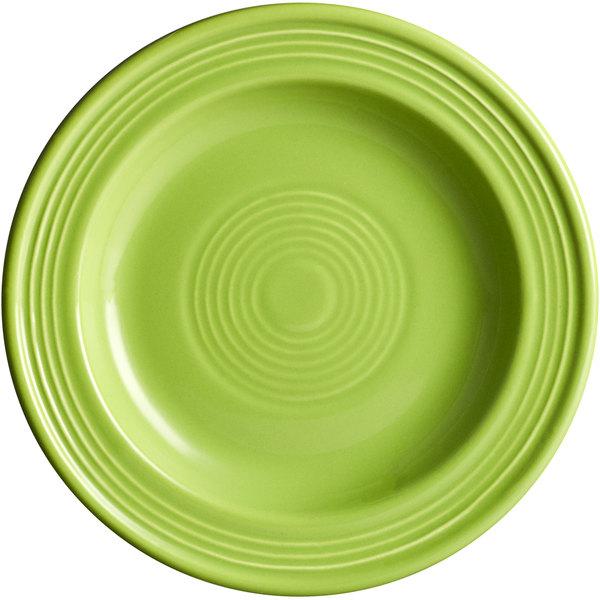 "Acopa Capri 6 1/8"" Bamboo Green China Plate - 24/Case Main Image 1"