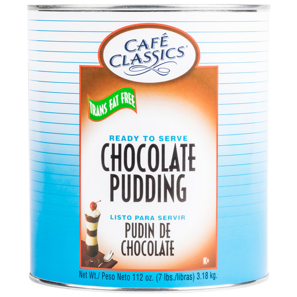 Cafe Classics Trans Fat Free Chocolate Pudding #10 Can