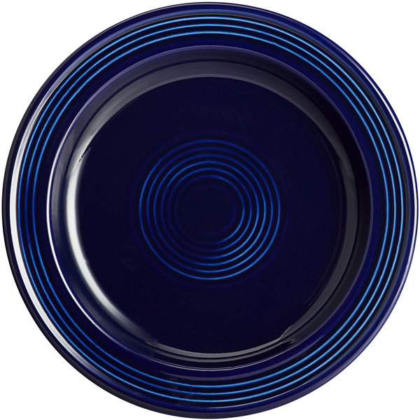 "Acopa Capri 7"" Deep Sea Cobalt China Plate - 24/Case Main Image 1"