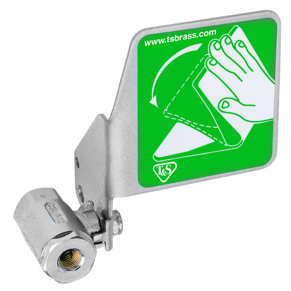 T&S EW-SP225 Stainless Steel Push Flag for T&S Eyewash Units Main Image 1