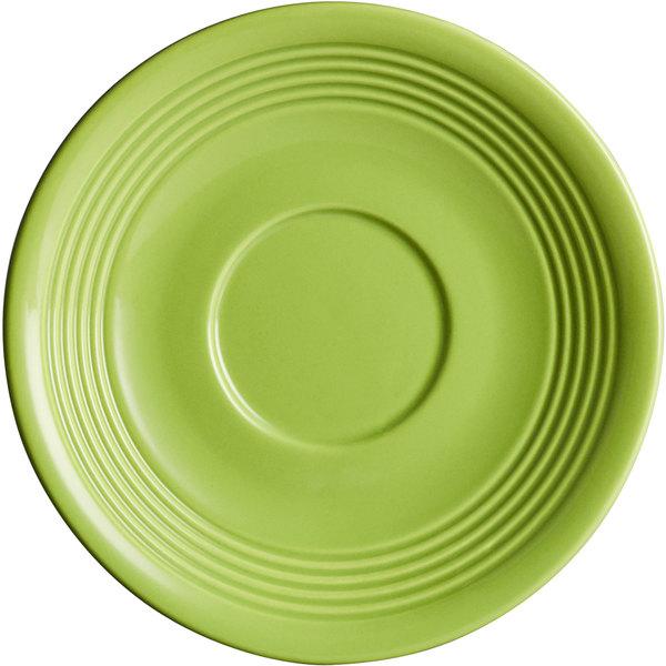"Acopa Capri 6"" Bamboo Green China Saucer - 36/Case Main Image 1"