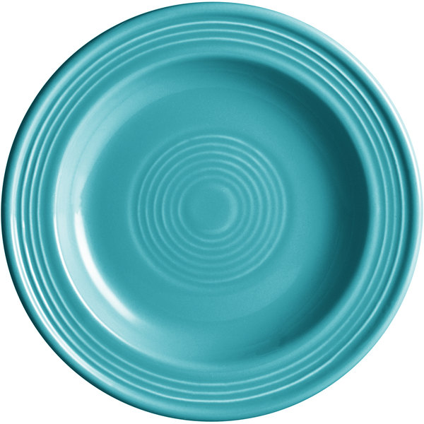 "Acopa Capri 6 1/8"" Caribbean Turquoise China Plate - 24/Case Main Image 1"