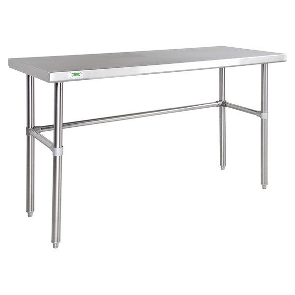 "Regency 30"" x 48"" 14-Gauge 304 Stainless Steel Commercial Open Base Work Table Main Image 1"