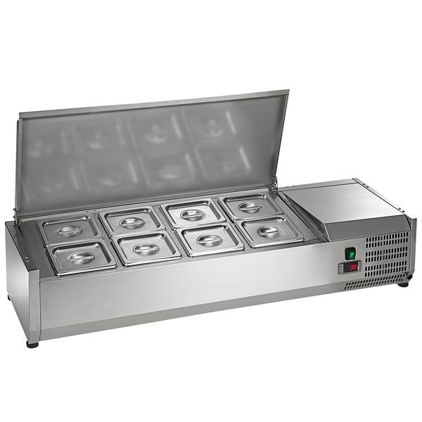 "Arctic Air ACP48 48"" Refrigerated Countertop Condiment Prep Station Main Image 1"
