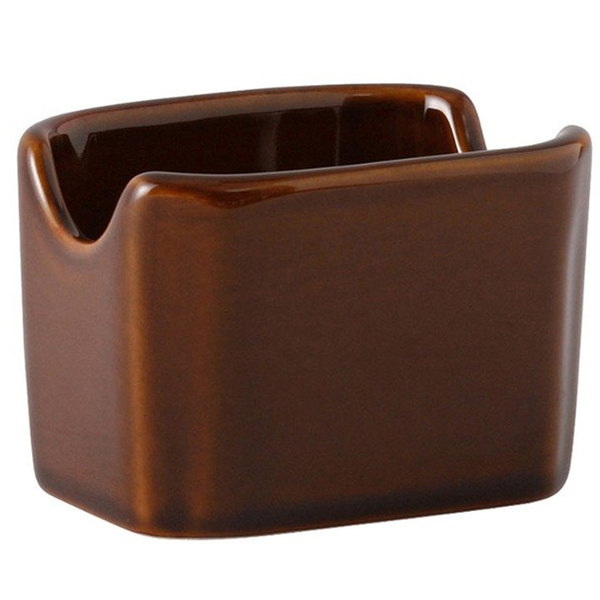 Caramel-colored sugar packet / condiment caddy