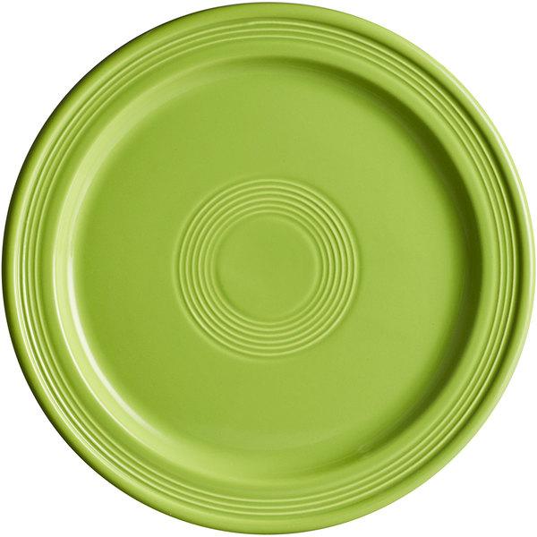 "Acopa Capri 10"" Bamboo Green China Plate - 12/Case Main Image 1"