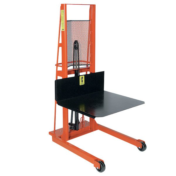 """Wesco Industrial Products 260051 Economy Series 1000 lb. Hydraulic Large Platform Stacker with 32"""" x 30"""" Platform and 68"""" Lift Height Main Image 1"""