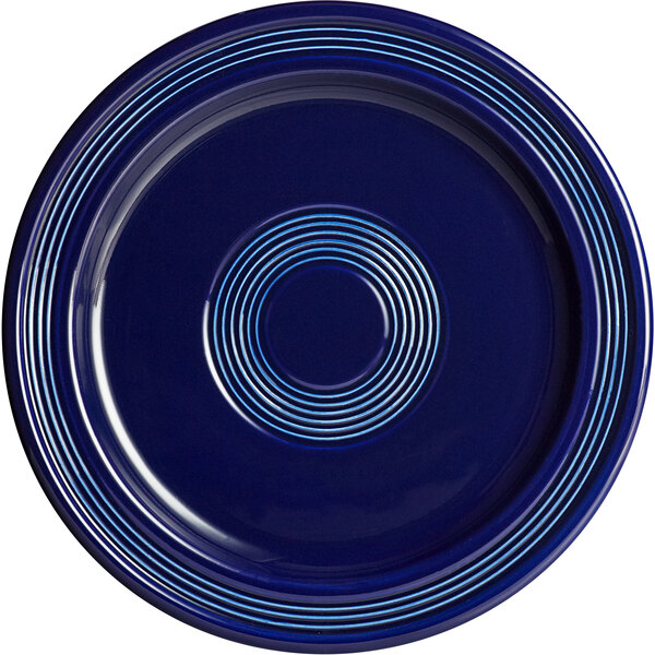 "Acopa Capri 9"" Deep Sea Cobalt China Plate - 12/Case Main Image 1"