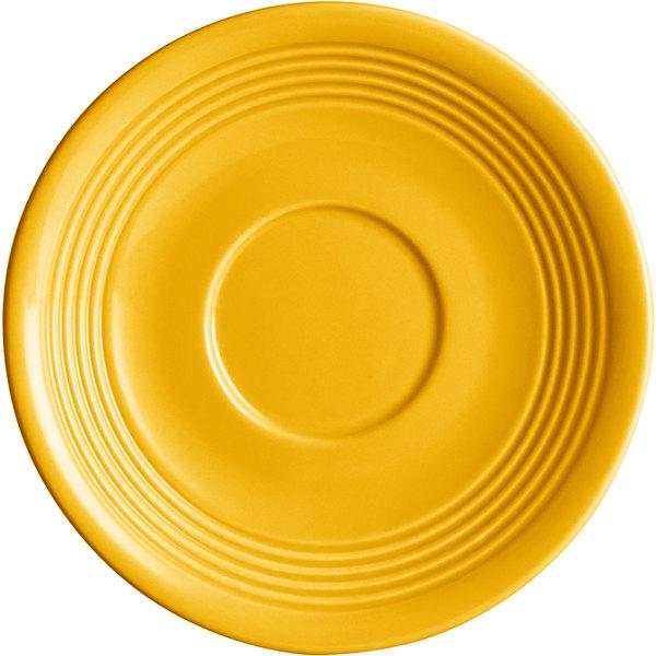 """Acopa Capri 6"""" Mango Orange China Saucer - 36/Case Main Image 1"""