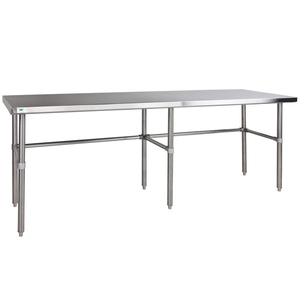 "Regency 24"" x 84"" 14-Gauge 304 Stainless Steel Commercial Open Base Work Table Main Image 1"