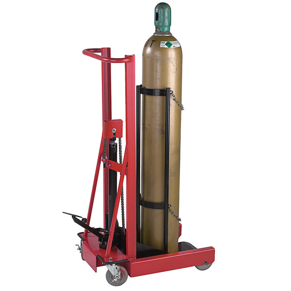 """Wesco Industrial Products 260161 300 lb. 4 Wheel Hydraulic Cylinder Pedalift with 12"""" x 20"""" Platform and 40"""" Lift Height Main Image 1"""