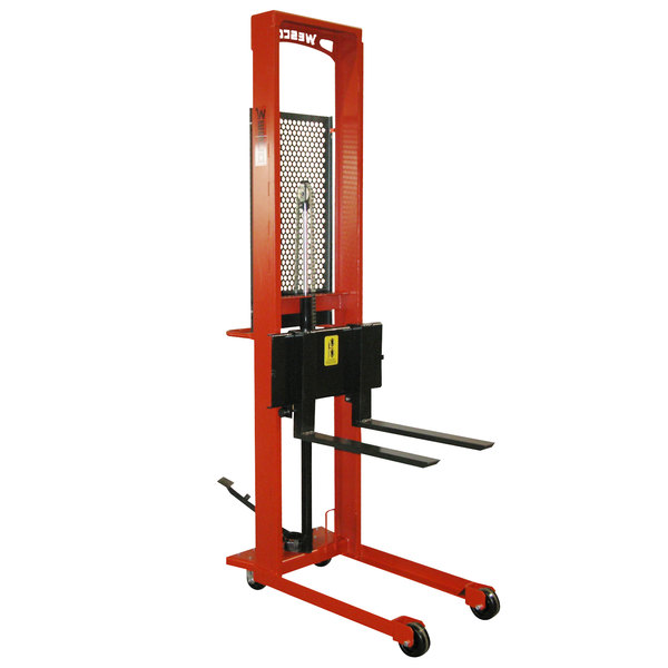 """Wesco Industrial Products 260035 Standard Series 1000 lb. Fork Stacker with 25"""" Forks and 56"""" Lift Height Main Image 1"""