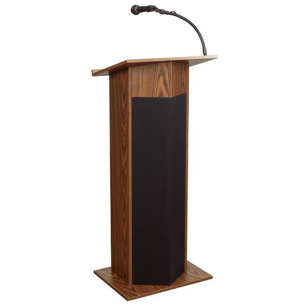 Oklahoma Sound 111PLS-MO Medium Oak Finish Power Plus Lectern with Sound Main Image 1