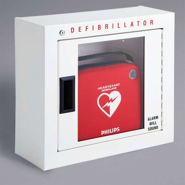 Philips 989803136531 Compact Surface Mount AED Cabinet with Alarm