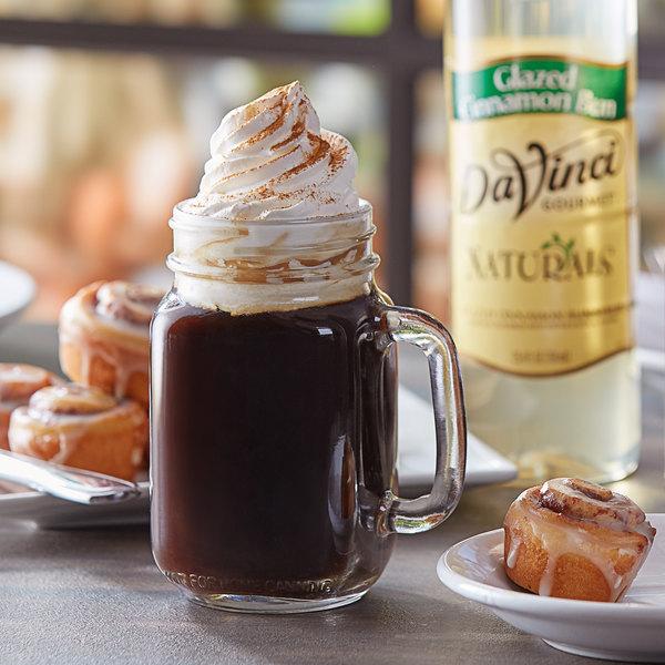 DaVinci Gourmet 750 mL All Natural Glazed Cinnamon Bun Flavoring Syrup