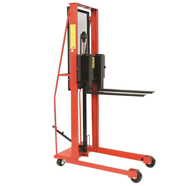 """Wesco Industrial Products 260053 Economy Series 1000 lb. Straddle Fork Stacker with 30"""" Forks and 56"""" Lift Height Main Image 1"""