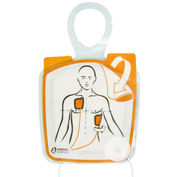 Cardiac Science XELAED001A Adult Electrode Pad Set for Powerheart G5 AEDs Main Image 1