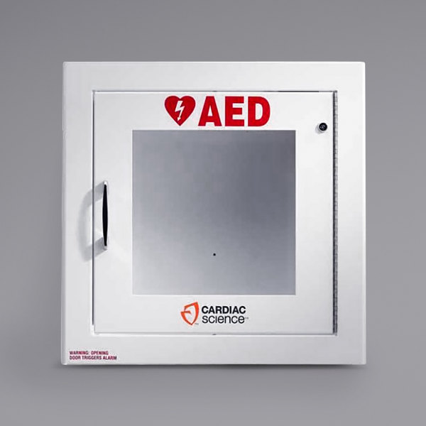 Cardiac Science 50-00395-20 Semi-Recessed Mount Standard Size AED Cabinet with Alarm Main Image 1