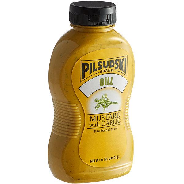 Pilsudski 12 oz. Dill Garlic Mustard Squeeze Bottle Main Image 1