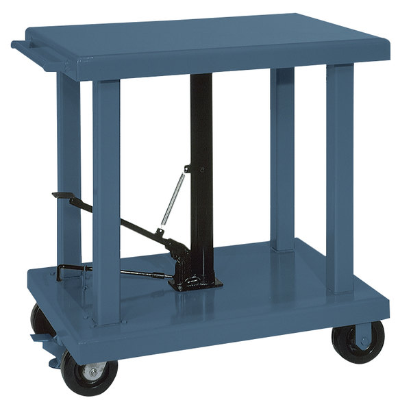 """Wesco Industrial Products 260064 24"""" x 36"""" Medium Duty Lift Table with Swivel Casters - 2000 lb. Capacity Main Image 1"""