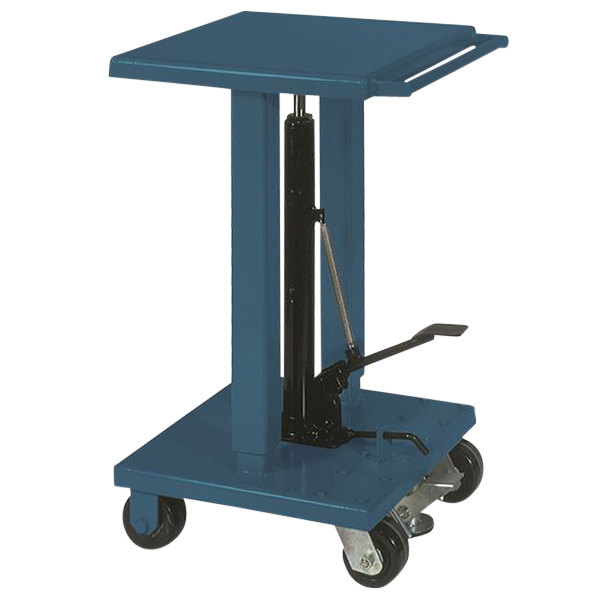 """Wesco Industrial Products 260060 18"""" x 18"""" Standard Duty Lift Table with Swivel Casters - 500 lb. Capacity Main Image 1"""