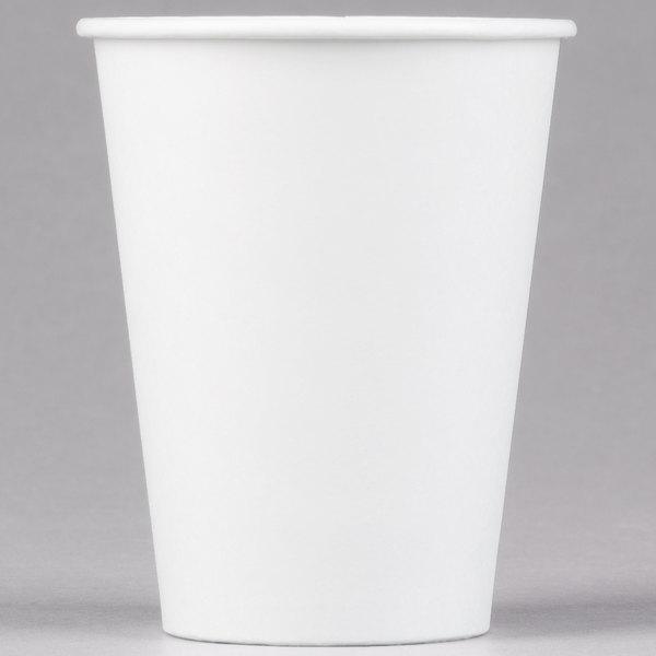 Dart Solo 412WN-2050 12 oz. White Poly Paper Hot Cup - 1000/Case