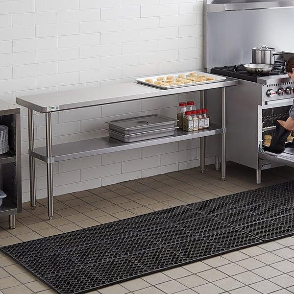 "Regency 18"" x 72"" 16-Gauge 304 Stainless Steel Commercial Work Table with Undershelf Main Image 3"