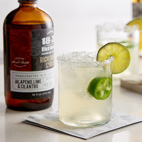 18.21 Bitters 16 oz. Jalapeno, Lime, & Cilantro Concentrated Syrup