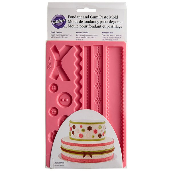 Wilton Silicone Ribbon and Fabric Fondant and Gum Paste Mold - Cake Decorating Supplies