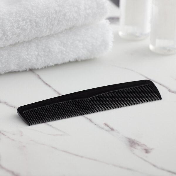 "Novo Essentials 4 5/8"" Black Comb - Individually Wrapped - 1440/Case Main Image 2"