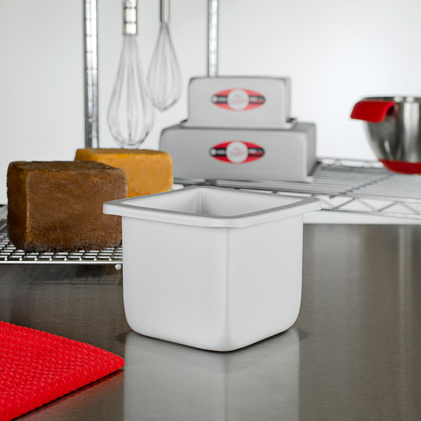 "Fat Daddio's PSQ-444 ProSeries 4"" x 4"" x 4"" Square Anodized Aluminum Mini Straight Sided Cake Pan Main Image 2"