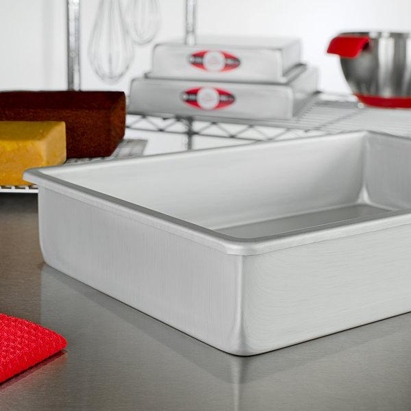 "Fat Daddio's POB-10153 ProSeries 10"" x 15"" x 3"" Rectangular Anodized Aluminum Straight Sided Cake Pan Main Image 2"