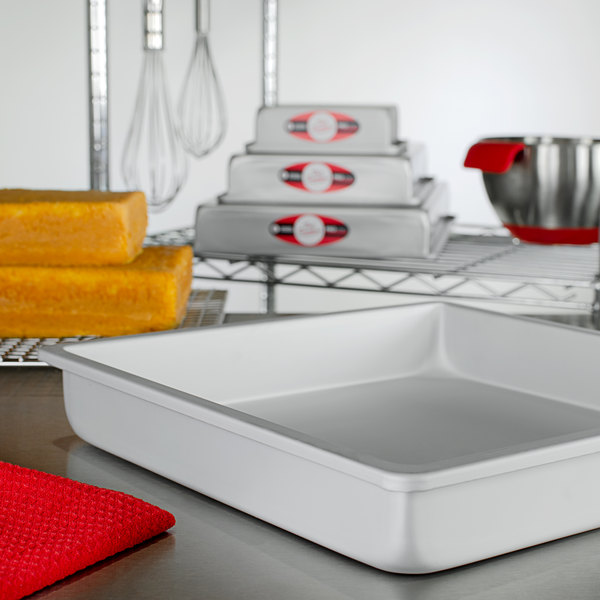 """Fat Daddio's PSQ-12122 ProSeries 12"""" x 12"""" x 2"""" Square Anodized Aluminum Straight Sided Cake Pan Main Image 2"""