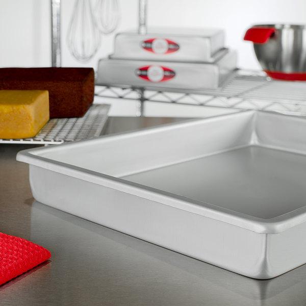"Fat Daddio's POB-12162 ProSeries 12"" x 16"" x 2"" Rectangular Anodized Aluminum Straight Sided Cake Pan Main Image 2"