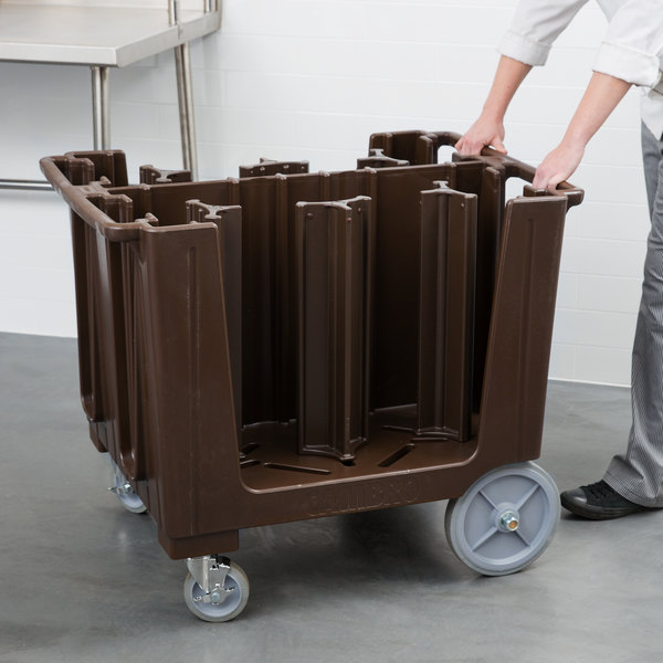 Cambro ADCS131 S Series Adjustable Dark Brown Dish Caddy with Vinyl Cover - 6 Column Main Image 5