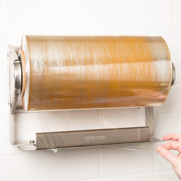 "Bulman A575-12 12"" Stainless Steel Countertop / Wall Mount Film Dispenser"