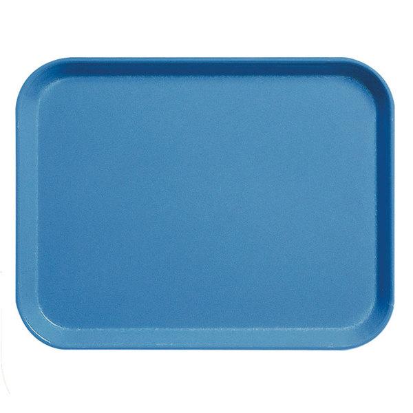 """Cambro 3253CL142 Camlite 13"""" x 21"""" Blue Tray - 12/Case"""