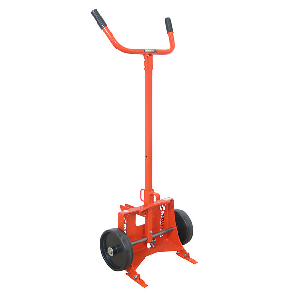 """Wesco Industrial Products 240052 1000 lb. Steel Drum Truck with (2) 10"""" Polyolefin Wheels - Knocked Down Main Image 1"""