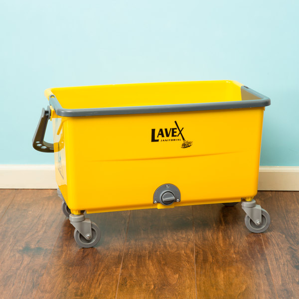 Lavex Janitorial 44 Qt. No-Touch Microfiber Mop Bucket Main Image 6