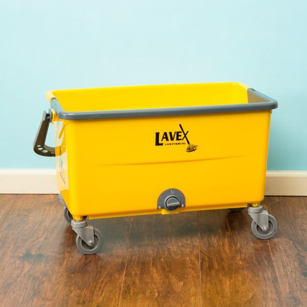 Lavex Janitorial 44 Qt. No-Touch Microfiber Mop Bucket Main Image 4