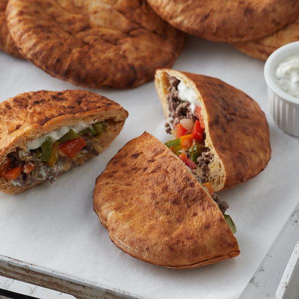 "Father Sam's Bakery 6"" Medium Tomato Pita Pocket Bread - 60/Case Main Image 2"