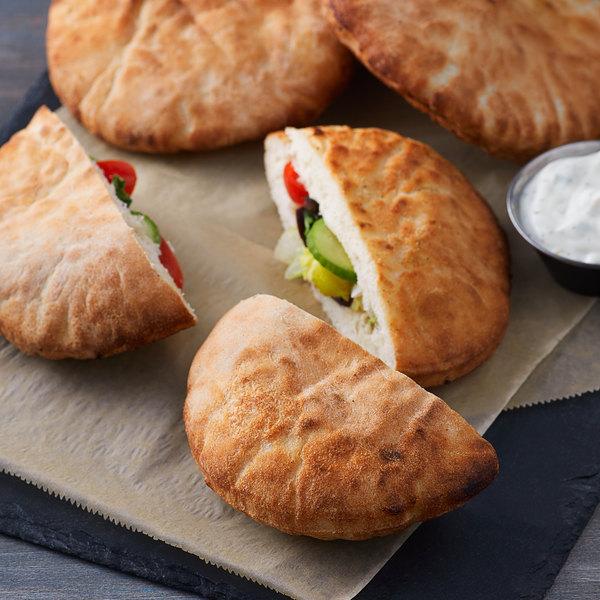 "Father Sam's Bakery 4 3/4"" Small White Pita Pocket Bread - 100/Case Main Image 2"