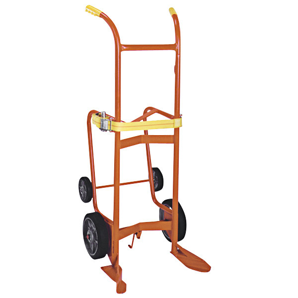 """Wesco Industrial Products 240083 1000 lb. Steel / Poly / Fiber Drum Truck and Drain Stand with (2) 10"""" Rubber Wheels and (2) 6"""" Rubber Wheels Main Image 1"""