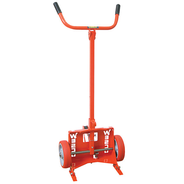 "Wesco Industrial Products 240016 1000 lb. Steel Drum Truck with (2) 10"" Polyurethane Wheels - Knocked Down Main Image 1"