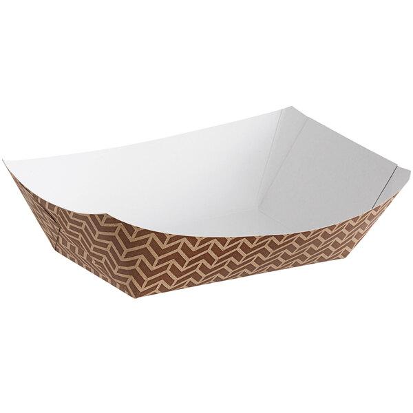 Carnival King #300 3 lb. Cornerstone Paper Food Tray - 500/Case