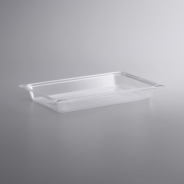 Vigor Full Size Clear Polycarbonate Food Pan - 2 1/2 inch Deep